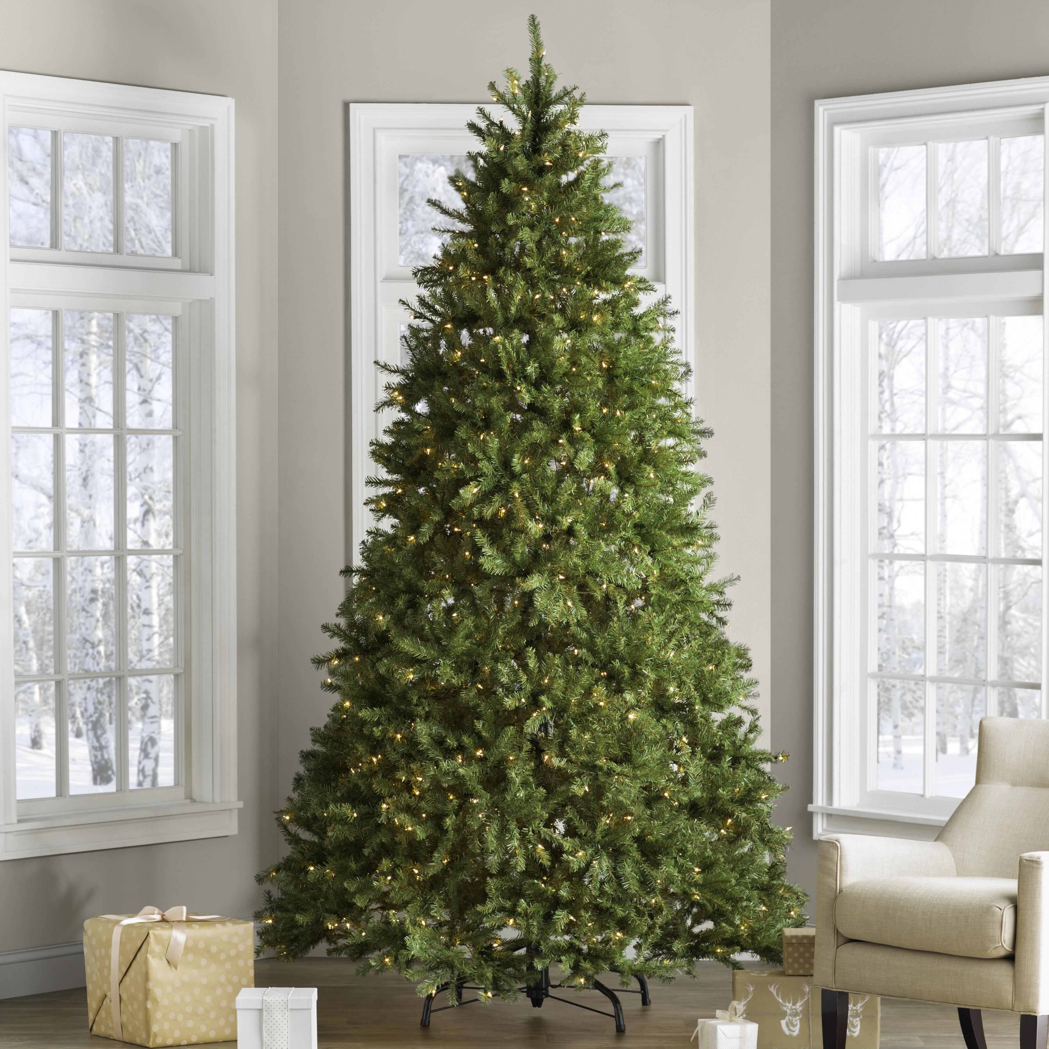 Loon Peak Hinged Fir Trees 9\' Green Fir Trees Artificial Christmas ...