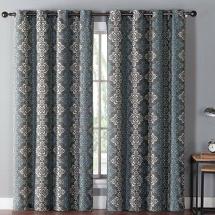 Adalaide Damask Max Blackout Grommet Single Curtain Panel by Charlton Home
