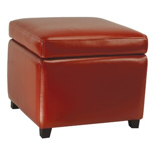 Price Check Jonathan Leather Storage Ottoman By Safavieh