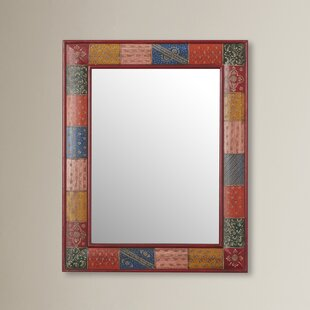 Savings Nassirah Hand Painted Vanity Wall Mirror ByBungalow Rose