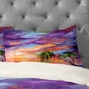 Ginette Fine Art Florida Palms Beach Pillow Case