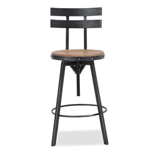Sylvania Adjustable Height Swivel Bar Stool by 17 Stories Online Cheap