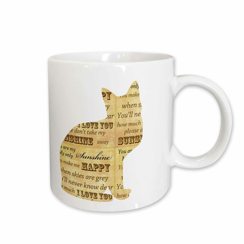 East Urban Home You Are My Sunshine Cat Inspirational Art Coffee Mug Wayfair