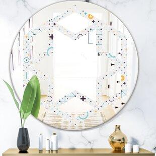 Minimalistic Geometric Elements Hexagon Star Modern  Contemporary Frameless Wall Mirror by East Urban Home