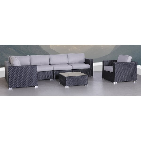 Sol 72 Outdoor Dayne 7 Piece Rattan Sectional Seating Group With Cushions Reviews Wayfair