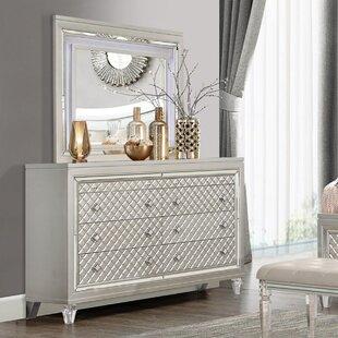 Rosdorf Park John 8 Drawer Double Dresser with Mirror