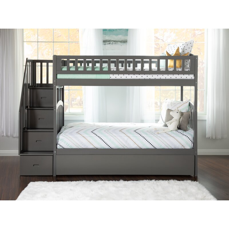 Atlantic Furniture Westbrook Twin Over Twin Bunk Bed With Trundle