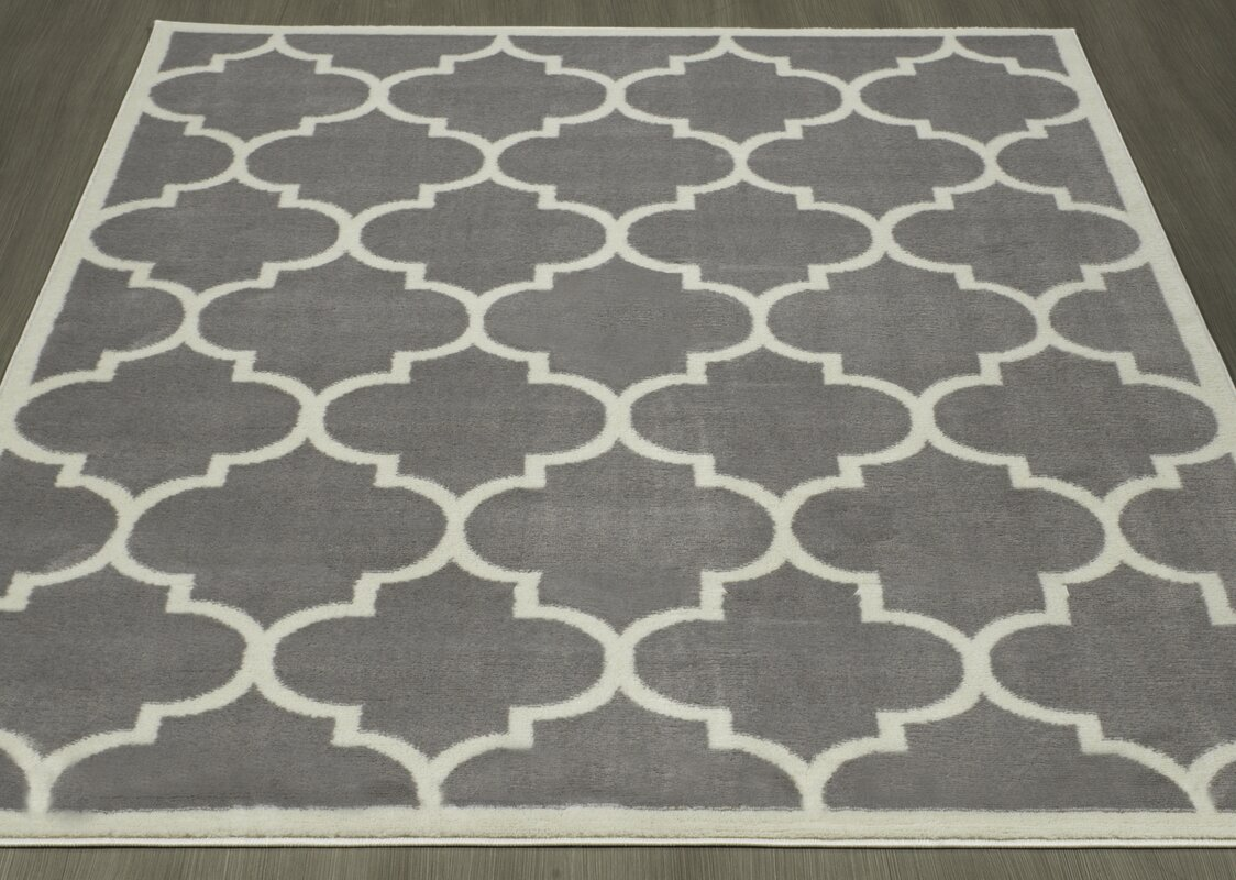 Homesense Contemporary Moroccan Trellis Gray Area Rug