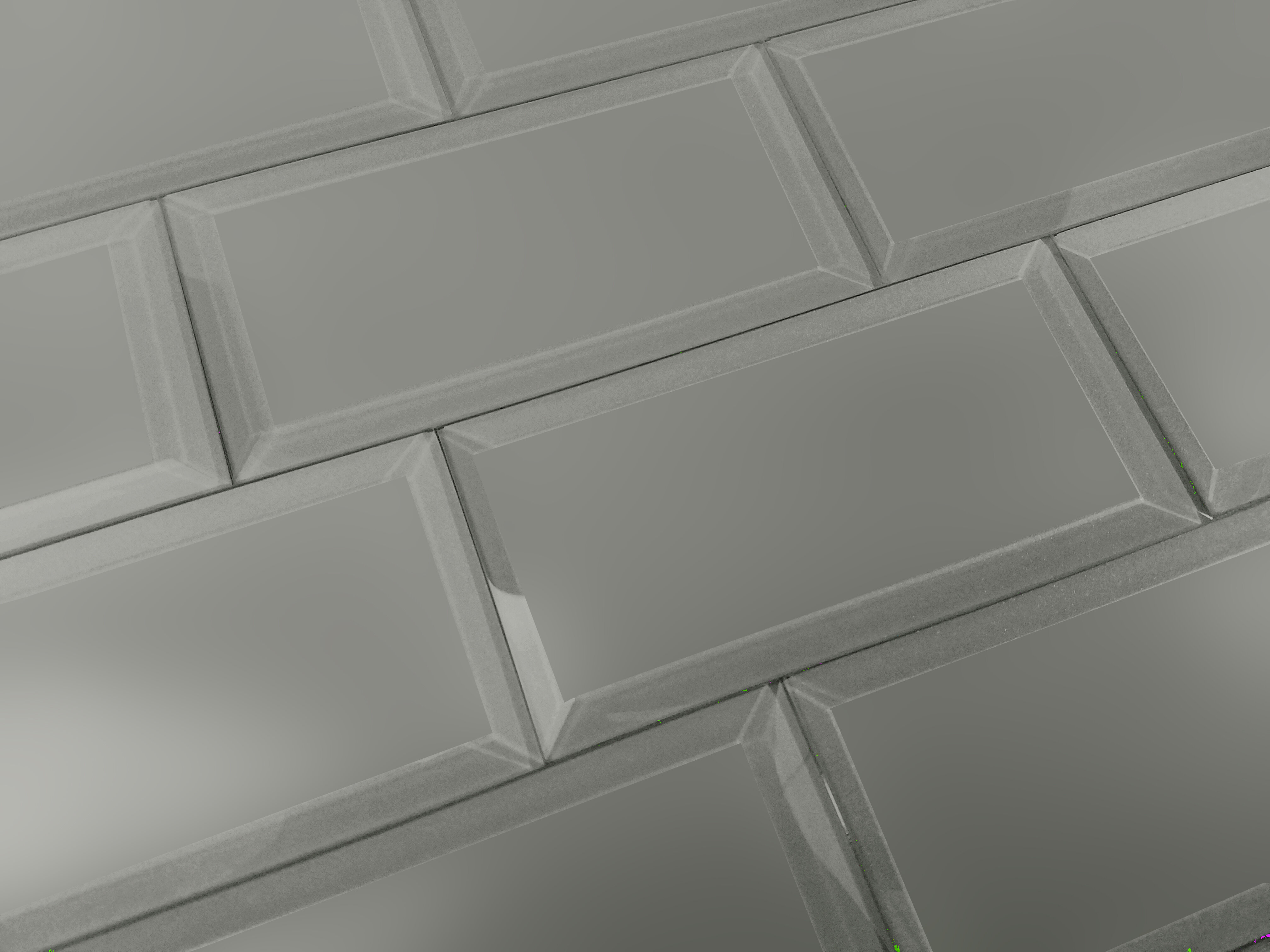 Abolos Frosted Elegance 3 X 6 Glass Subway Tile In Matte Gray