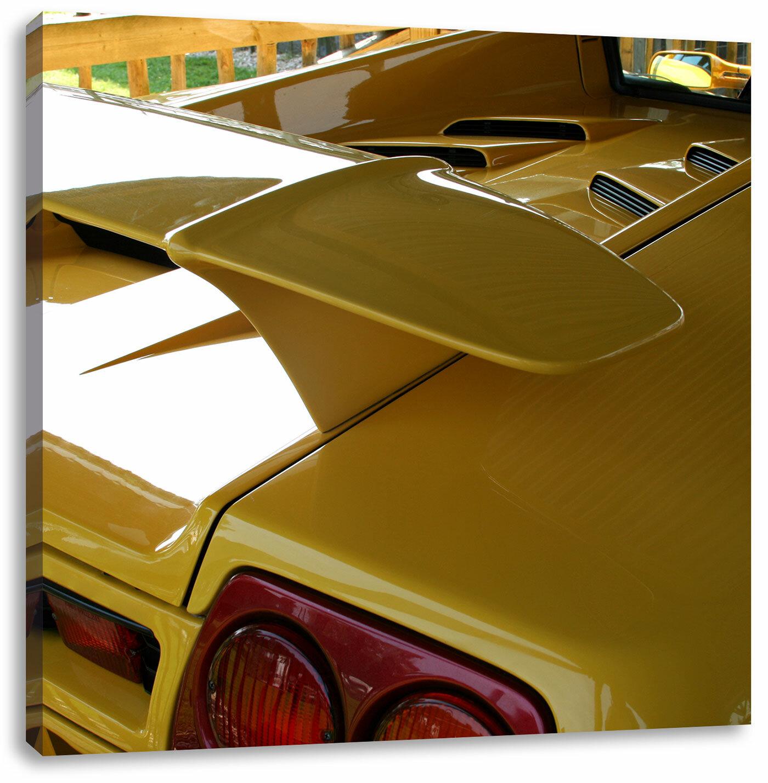 East Urban Home Yellow Lamborghini Gallardo Art Print On Canvas Wayfair Co Uk