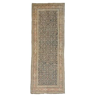 One-of-a-Kind Karabagh Even Wear Hand-Knotted Runner 6'8 x 18' Wool Ivory/Blue Area Rug By1800GETARUG
