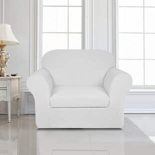Knit Jacquard Box Cushion Armchair Slipcover