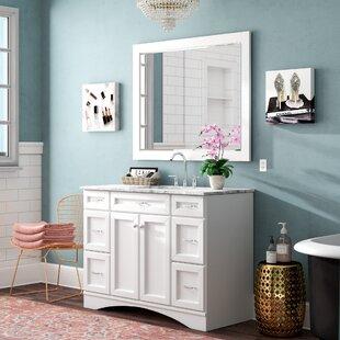 Madi 48 Single Vanity Set with Mirror by Willa Arlo Interiors