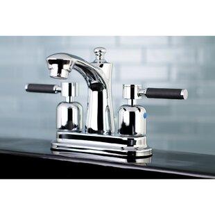 Kingston Brass Kaiser Centerset Bathroom Faucet with Drain Assembly