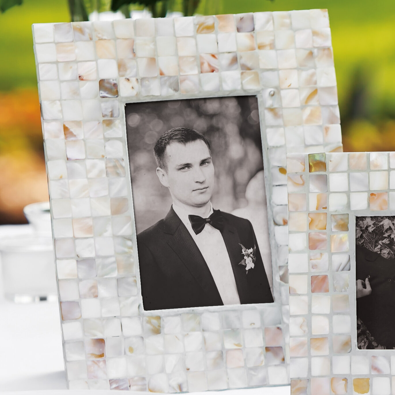 Cypress Mother of Pearl Picture Frame | Wayfair.ca