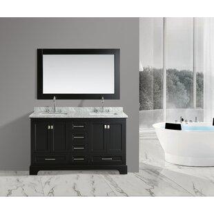 Saugatuck 61 Double Bathroom Vanity Set with Mirror by Orren Ellis
