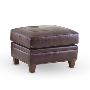 Gravely Leather Ottoman by Darby Home Co