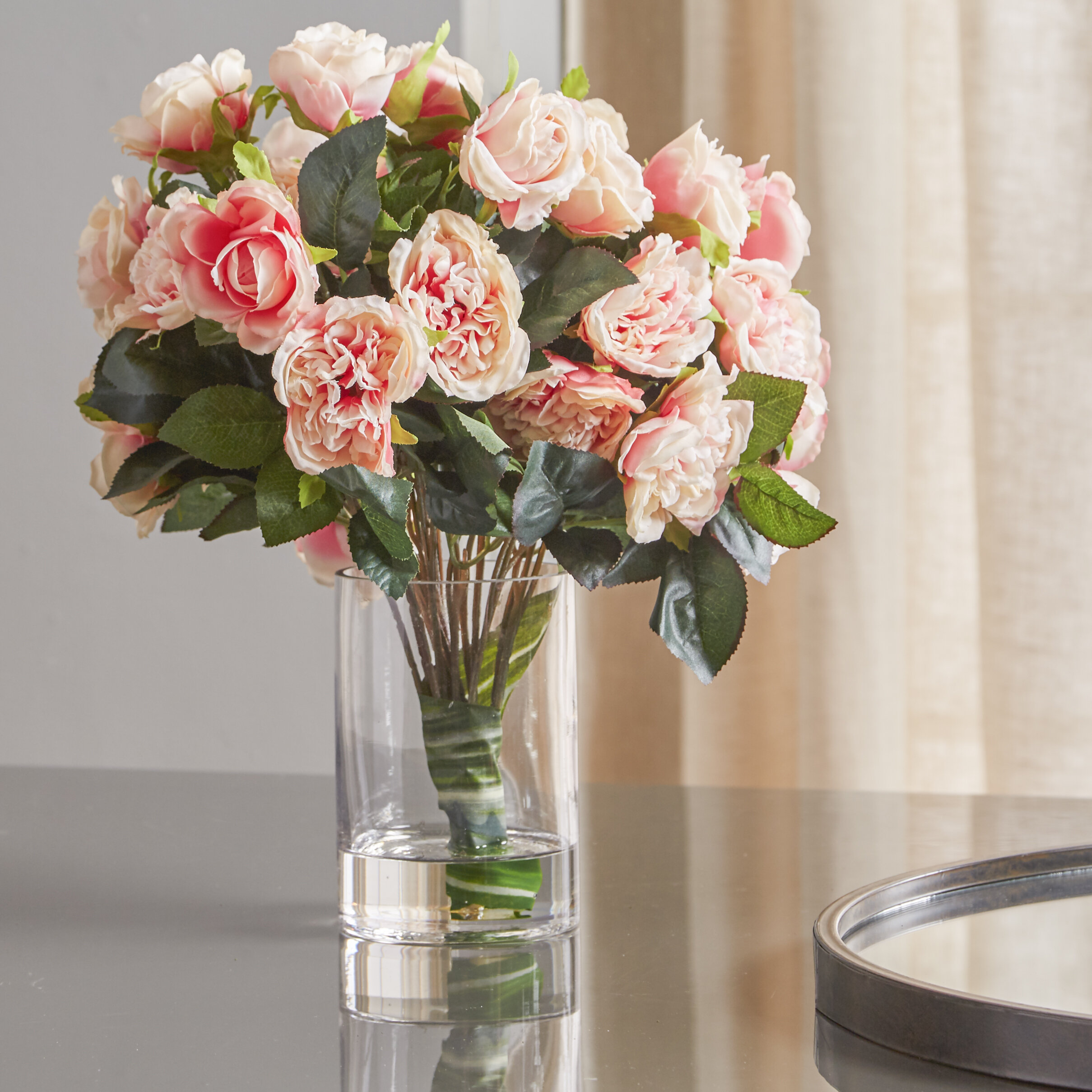 Rose Centerpiece in Decorative Vase