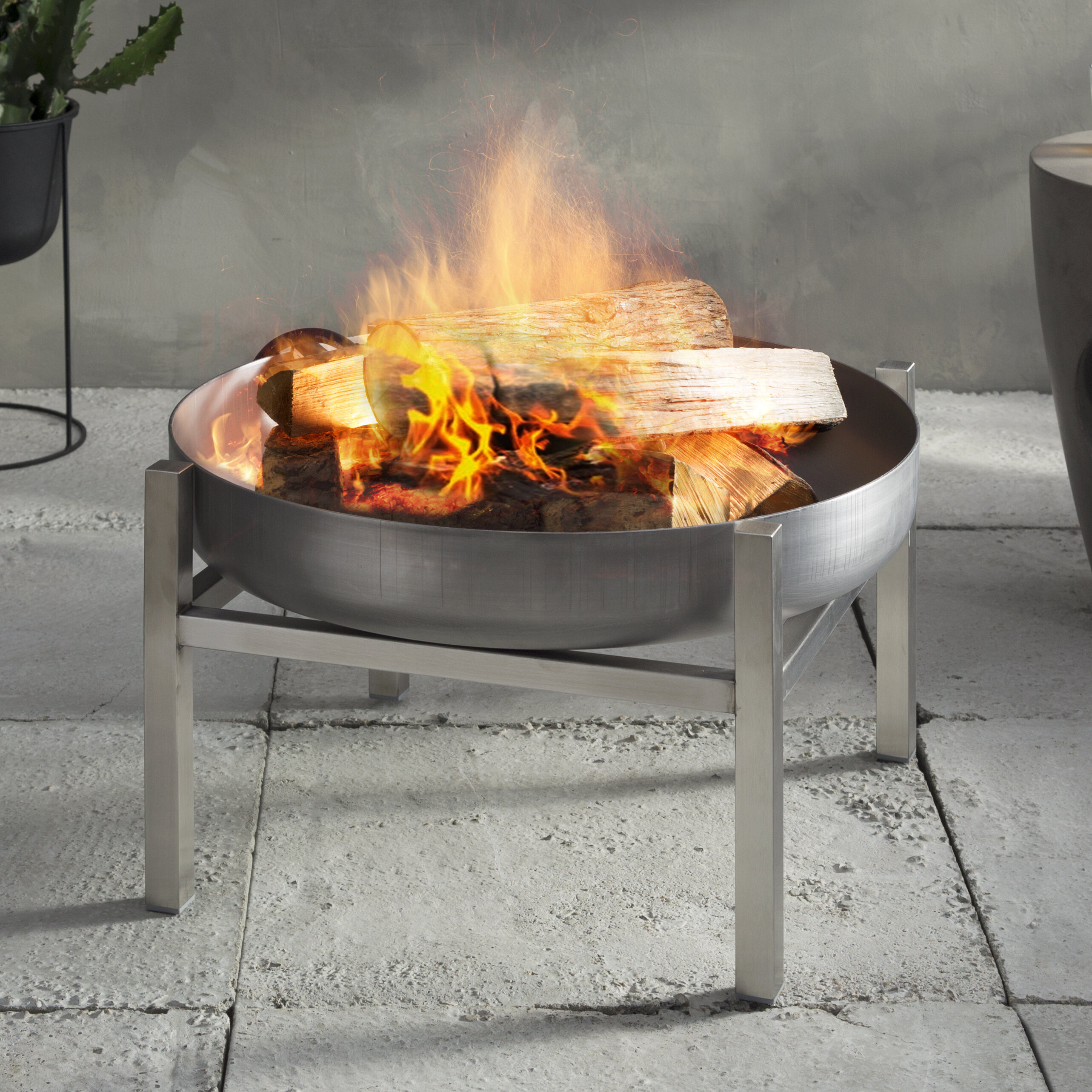 Curonian Parnidis Stainless Steel Wood Burning Fire Pit Reviews