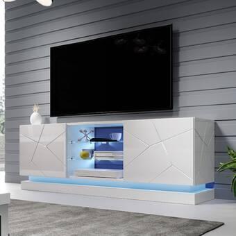 Ebern Designs Agarita Tv Stand For Tvs Up To 71 Reviews Wayfair