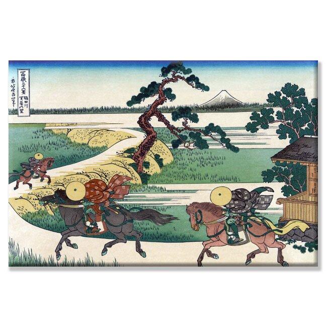 Vault W Artwork Village Of Sekiya At Sumida River By Katsushika Hokusai Graphic Art Wayfair