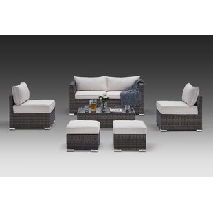Ahmed 6 Piece Rattan Sofa Seating Group with Cushions by Orren Ellis