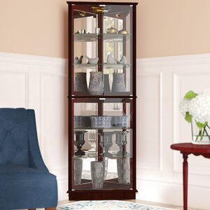 Randalstown Lighted Corner Curio Cabinet