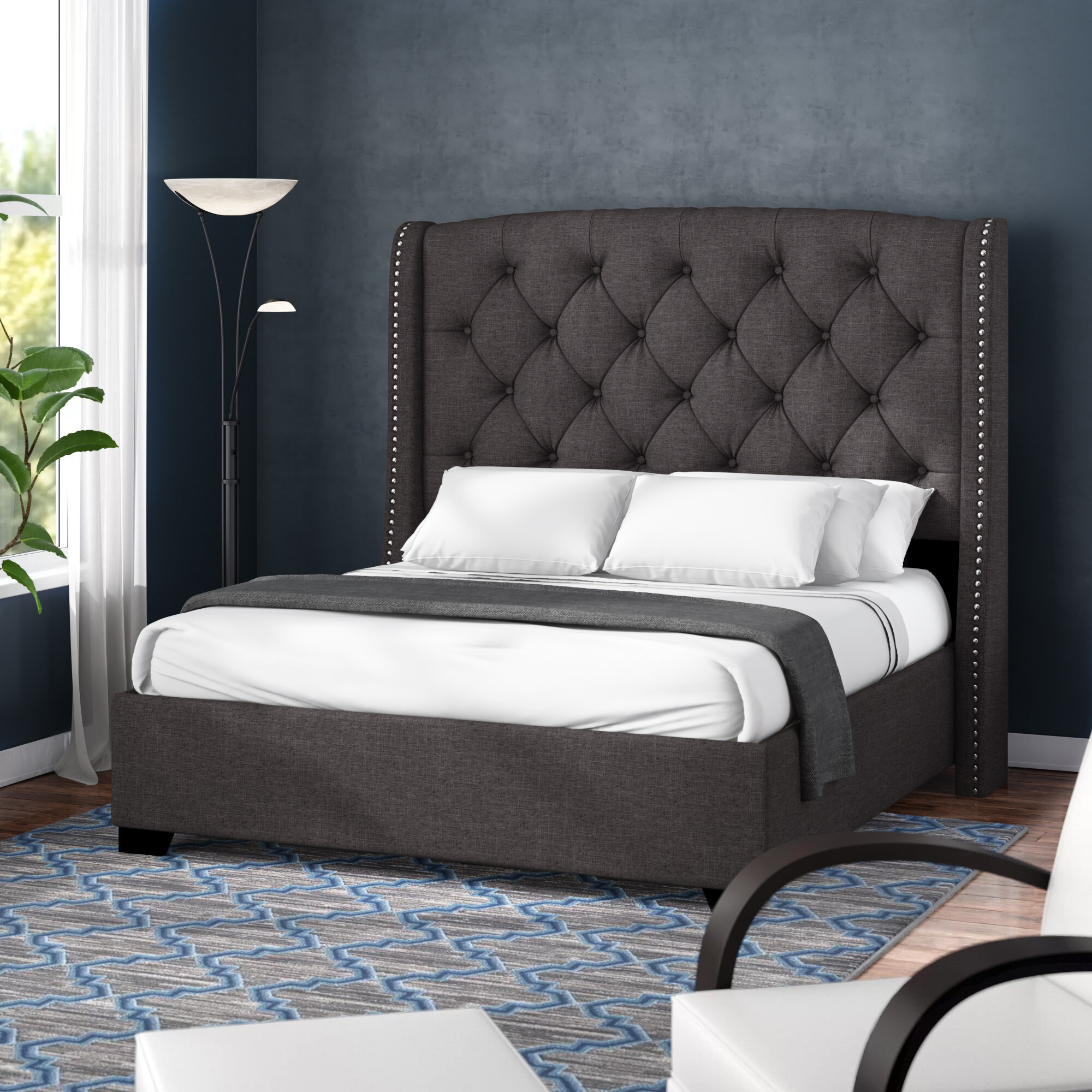Darby Home Co Chenery Upholstered Platform Bed Reviews Wayfair