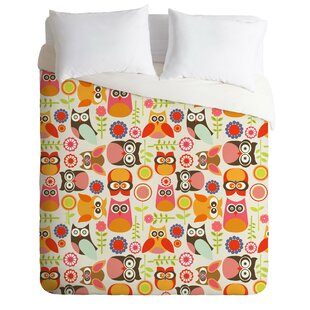 East Urban Home Cute Little Owls Duvet Cover Set