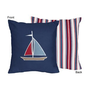 Nautical Nights Cotton Throw Pillow by Sweet Jojo Designs