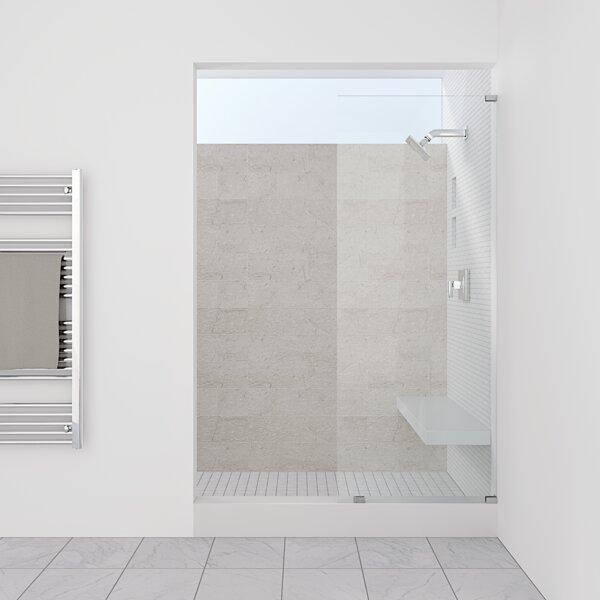 1675 x 700mm Bath Tub Single End 5mm Acrylic 6mm Glass Shower Screen Panels