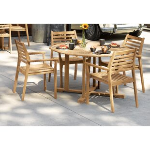 Highland Dunes Huggins 5 Piece Dining Bistro Set