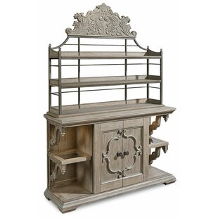 Carolin Lighted Console China Cabinet by One Allium Way