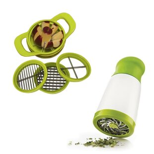 6 Piece Multi-Purpose Kitchen Herb Mincer Fruit Chopper Set