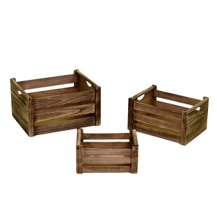 Solid Wood 3 Piece Organiser Box Set By August Grove