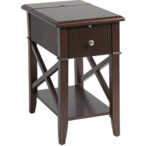 Amboyer Chairside Table in Rich Cordovan by ..