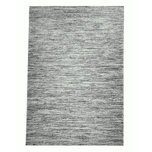 Sari Silk and Hemp Dark Gray Area Rug