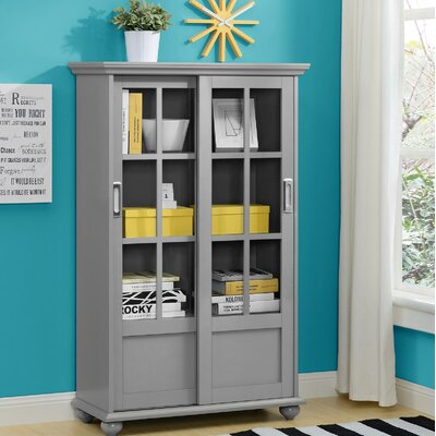 Metal Amp Wood Bookcases With Doors You Ll Love In 2019