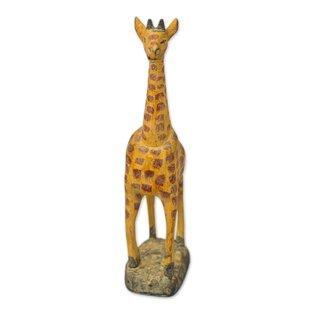 dd0d35c6e9b Daleyza Tall Giraffe Wood Figurine