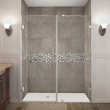 Nautis 60 x 72 Hinged Completely Frameless Shower Door by Aston