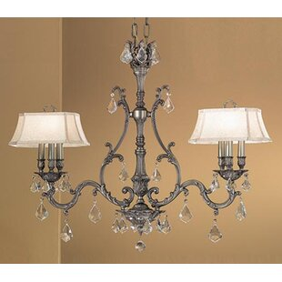 Classic Lighting Majestic 6-Light Shaded Chandelier