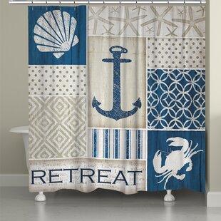 Coastal Retreat Shower Curtain ByLaural Home