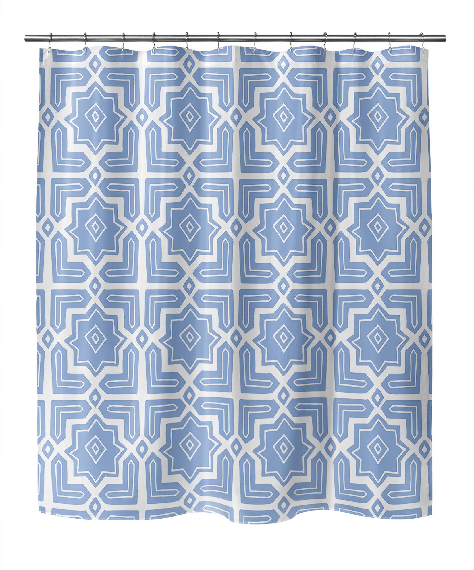 Ebern Designs Aavyan Geometric Shower Curtain Wayfair