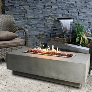 Bon Granville Concrete Gas Fire Pit Table