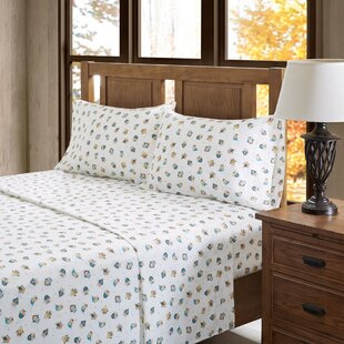 Niles Owl 100% Cotton Flannel Sheet Set