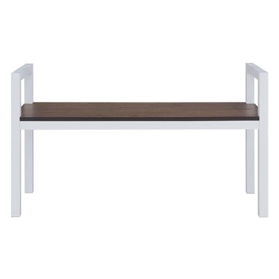 Abachi Bench Color: Dark Weathered Oak/White by Holly  and  Martin