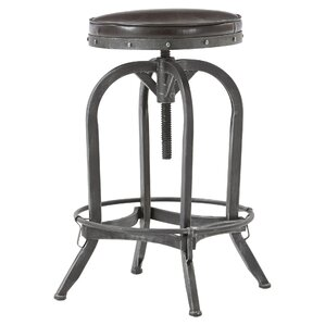 Alkaios Adjustable Height Swivel Bar Stool by Mercury Row