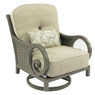 Leona Riviera High Back Swivel Rocking Chair with Cushion