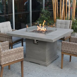 Damion Dining Concrete Propane Fire Pit Table By Sol 72 Outdoor