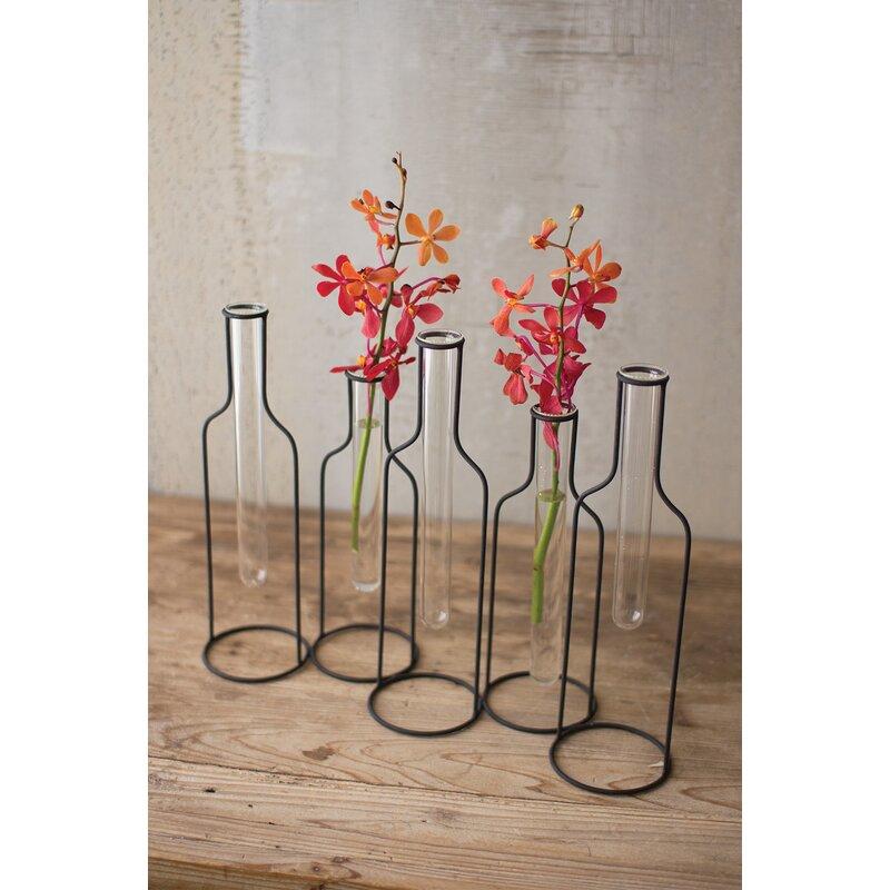 Gracie Oaks Wolfenbarger Five Wire Bottle Bud Vase Table Vase Wayfair